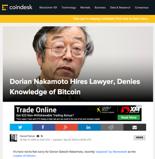 "Source:<br> <a href=""https://www.coindesk.com/dorian-nakamoto-hires-lawyer-denies-knowledge-bitcoin/"" target=""_blank"">https://www.coindesk.com/dorian-nakamoto-hires-lawyer..</a>"