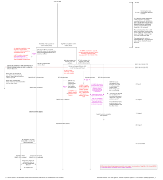 "<h4>Bitcoin flowchart to cover early/late BIP91 activation and false signaling</h4> <p><a href=""http://bit.ly/2uyX44z"">http://bit.ly/2uyX44z</a> by <a href=""https://twitter.com/ercwl"">@ercwl</a>, <a href=""https://twitter.com/ hampus_s"">hampus_s</a> and <a href=""https://twitter.com/todu77"">@todu77</a></p>"