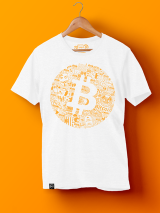"<h2>Bitcoin 10th Anniversary Tee<br />$ 39.00</h2> <p><br />The Bitcoin 10th anniversary shirt is a visual representation of the decade that's changed digital value forever. From Bitcoin obituaries to Lightning Network and all of the memes in between, it features everything the Bitcoin roller coaster has gone through to date.</p> <p><a href=""https://store.b.tc/products/bitcoin-10th-anniversary-tee"">Shop at BTC Store</a></p>"