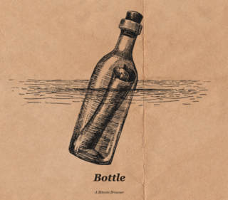 "<h3> A Bitcoin Browser</h3> <p>Bottle is a browser that lets you surf the Bitcoin network for these things, and brings them all together through Bitcoin native URI schemes such as B:// or C:// (or any other protocols we add in the future).</p> <p>Note that the address bar below uses a b:// address:, not HTTP or HTTPS. This HTML file is 100% hosted and served from the Bitcoin blockchain, and has nothing to do with where a ""server"" is located.</p> <p><a href=""https://bottle.bitdb.network/"" target=""_blank"">bottle.bitdb.network</a></p>"