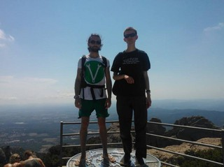 "<p>Vitalik and me standing on the top of Montserrat near Calafou, near Barcelona.</p>   Often people asked me in the past: ""What do you do with/for Ethereum?"". I always had a hard time answering this. The reason is, that I was kind of involved in Ethereum even before there was a name for it. So let me try to explain my connection to Ethereum a bit…  About a year and a half ago in autumn 2013, I was working as the lead developer with Vitalik Buterin (who later became the initiator of the Ethereum project) on another project with the name 'Keidom' (now called ascribe.io). The idea behind Keidom/Ascribe was to develop a custom colored-coin web-wallet for registering and transfering digital art in a secure way, based on the Bitcoin blockchain, with build-in proof-of-existence. We developed a working prototype during September and November 2013. <p>Source:<br /><a href=""https://medium.com/@yanislav/king-of-bitcoin-godfather-of-ethereum-a9af9ecf56d5"" target=""_blank"">medium.com/@yanislav</a></p>"