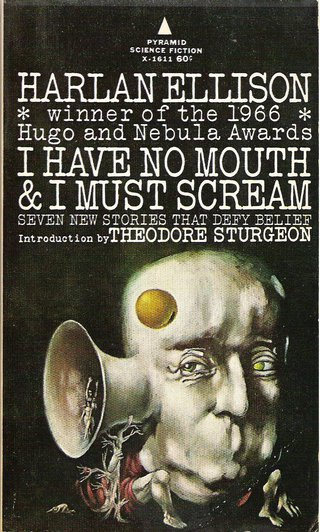 "<h2>I Have No Mouth &amp; I Must Scream</h2> <p>by Harlan Ellison, January 1967</p> <p>A godlike computer full of hate<br /> <br />""I Have No Mouth &amp; I Must Scream"" is an atmospherically dense story about the last surviving humans who are imprisoned inside an almost omnipotent computer and exposed to its insane hatred. Only death promises salvation... This story offers room for different interpretations. Basically, it is possibly one of the best literary debates on the subject of man facing a vengeful God for no understandable reason.</p> <p>Source:&nbsp;<a href=""https://en.wikipedia.org/wiki/I_Have_No_Mouth,_and_I_Must_Scream"" target=""_blank"">wikipedia.org</a></p>"